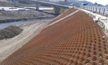 controllo dell'erosione con geostruttura neoweb