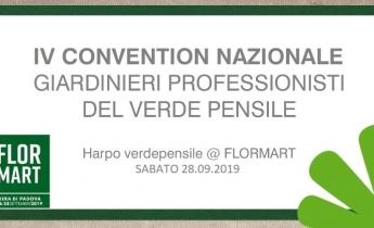 IV Convention Nazionale Giardinieri Professionisti del Verde Pensile | Padova Fiere, 28/09/19